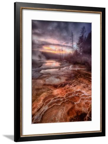 Colorful Geo Thermal Morning, Mammoth Hot Springs-Vincent James-Framed Art Print