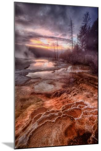 Colorful Geo Thermal Morning, Mammoth Hot Springs-Vincent James-Mounted Photographic Print