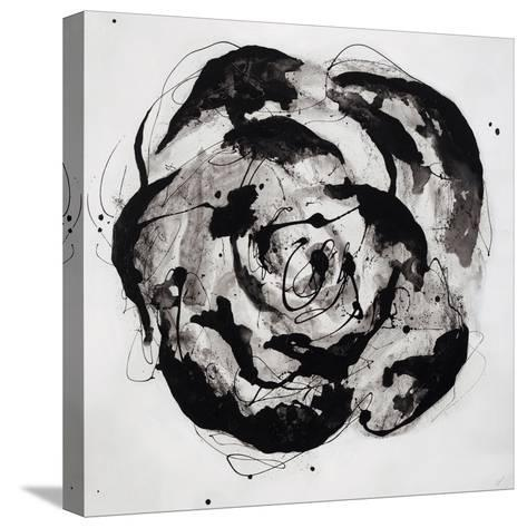 Black and White Bloom II-Sydney Edmunds-Stretched Canvas Print
