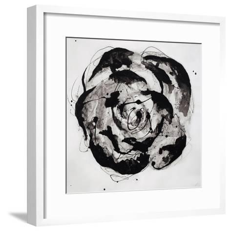 Black and White Bloom II-Sydney Edmunds-Framed Art Print