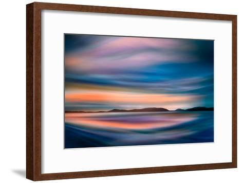 Coastlines (In Blue)-Ursula Abresch-Framed Art Print
