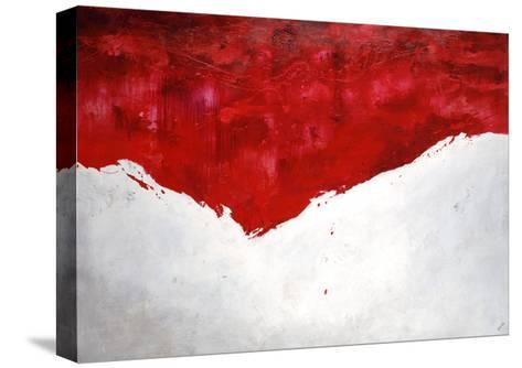 Interplay Rouge-Sydney Edmunds-Stretched Canvas Print