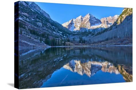 Maroon Bells Mountain and Maroon Lake, Colorado-Alan Copson-Stretched Canvas Print