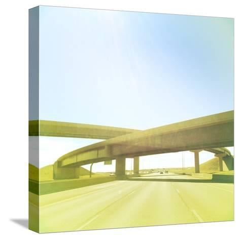 Cross Bridge over Road-A L Christensen-Stretched Canvas Print