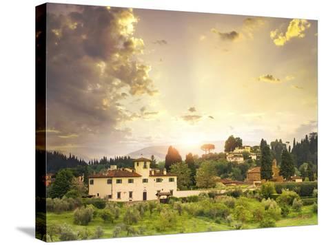 Italian Landscape-Dmytro Tokar-Stretched Canvas Print