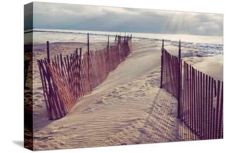 Lake Michigan Beach-Trina Dopp Photography-Stretched Canvas Print