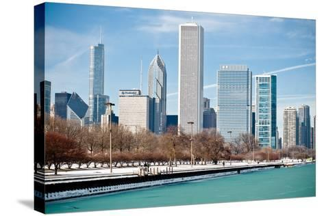 Chicago Skyline-George Imrie Photography-Stretched Canvas Print