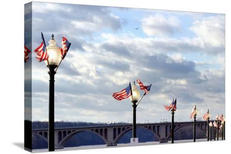 Georgetown, Key Bridge over the Potomac River-Hisham Ibrahim-Stretched Canvas Print