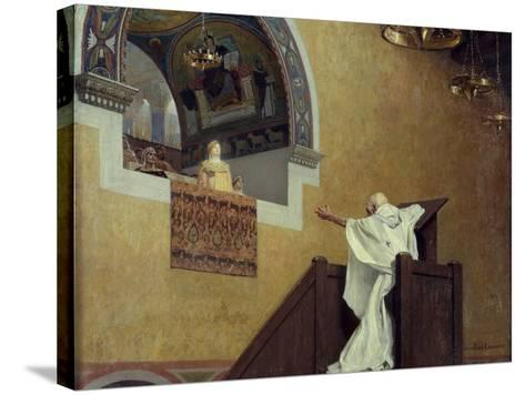 Saint John Chrysostom Confronting the Empress Eudoxia by Jean Paul Laurens--Stretched Canvas Print