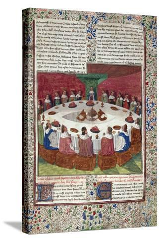 The King Arthur and the Knights of the round Table--Stretched Canvas Print