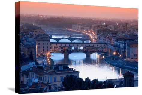 Florence Skyline-Visions Of Our Land-Stretched Canvas Print
