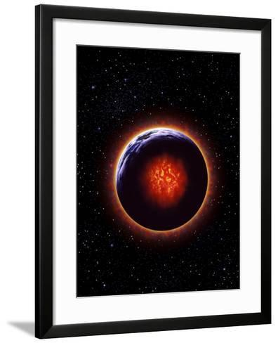 An Exaggerated Depiction of Global Warming--Framed Art Print