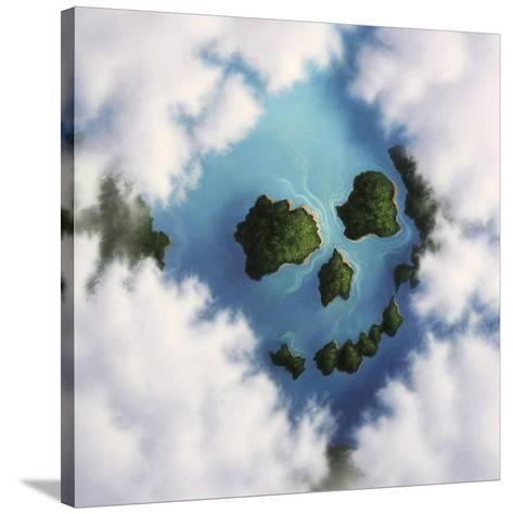 Islands Framed by Clouds Forming a Skull--Stretched Canvas Print