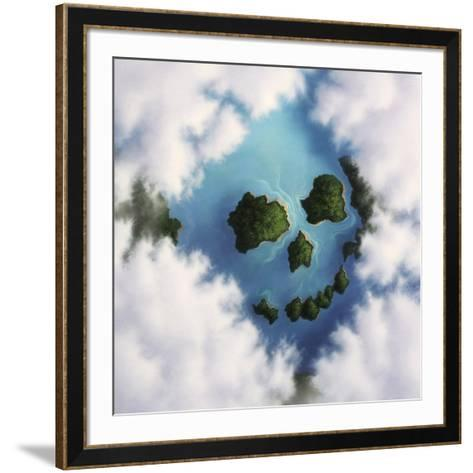 Islands Framed by Clouds Forming a Skull--Framed Art Print