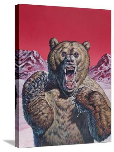 Cave Bear (Ursus Spelaeus), Pleistocene Epoch--Stretched Canvas Print