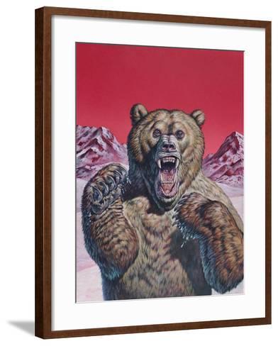 Cave Bear (Ursus Spelaeus), Pleistocene Epoch--Framed Art Print