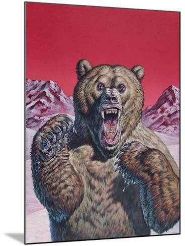 Cave Bear (Ursus Spelaeus), Pleistocene Epoch--Mounted Art Print