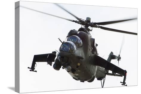 Polish Army Mil Mi-24V Hind in Flight--Stretched Canvas Print