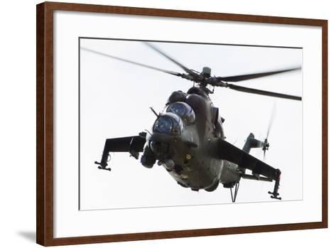 Polish Army Mil Mi-24V Hind in Flight--Framed Art Print