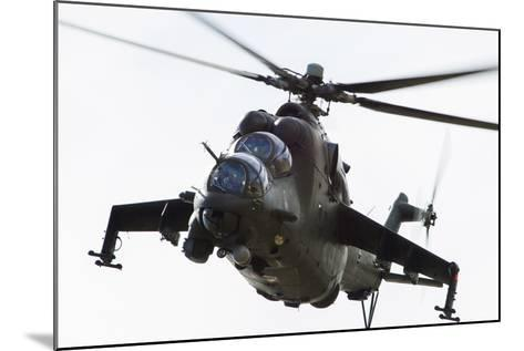 Polish Army Mil Mi-24V Hind in Flight--Mounted Photographic Print