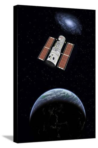 The Hubble Space Telescope in Earth Orbit--Stretched Canvas Print