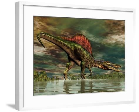 Spinosaurus Was a Large Theropod Dinosaur from the Cretaceous Period--Framed Art Print