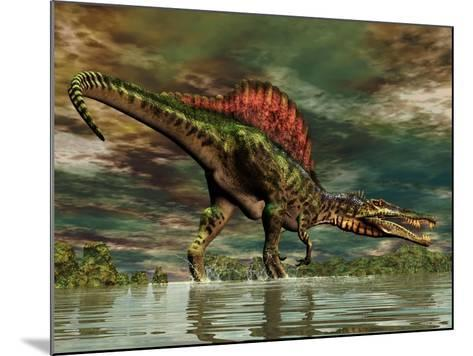 Spinosaurus Was a Large Theropod Dinosaur from the Cretaceous Period--Mounted Art Print