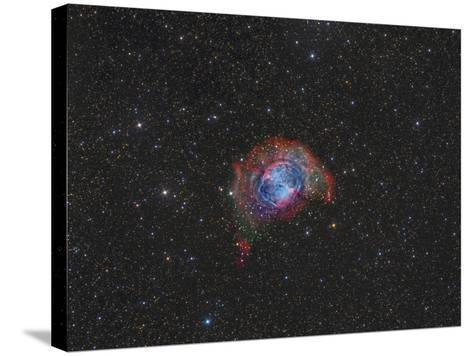 Messier 27, the Dumbbell Nebula--Stretched Canvas Print