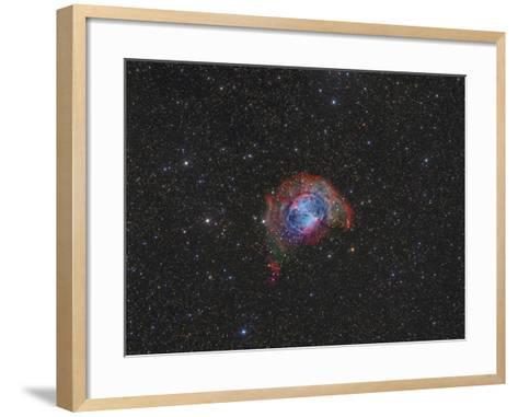 Messier 27, the Dumbbell Nebula--Framed Art Print