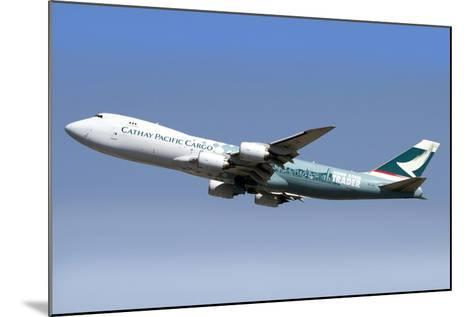 A Boeing 747-800 Cathay Pacific Cargo Hong Kong Trader--Mounted Photographic Print