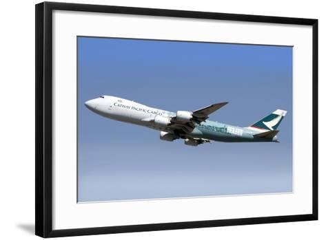 A Boeing 747-800 Cathay Pacific Cargo Hong Kong Trader--Framed Art Print