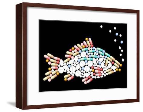 Tablets Pills Fish-Peter Hermes Furian-Framed Art Print