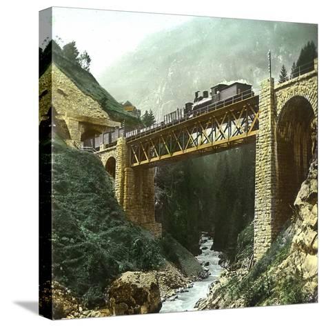 Vassen (Switzerland), Bridge of the Saint-Gothard Railroad, Circa 1865-Leon, Levy et Fils-Stretched Canvas Print