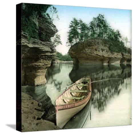 United States (Wisconsin), the Wisconsin River-Leon, Levy et Fils-Stretched Canvas Print