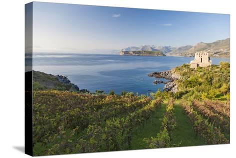 Carpino Bay, Scalea, Calabria, Italy-Peter Adams-Stretched Canvas Print