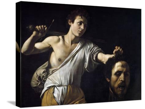 David with the Head of Goliath by Caravaggio--Stretched Canvas Print