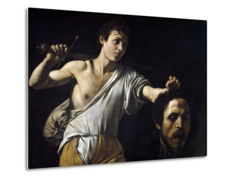 David with the Head of Goliath by Caravaggio--Metal Print