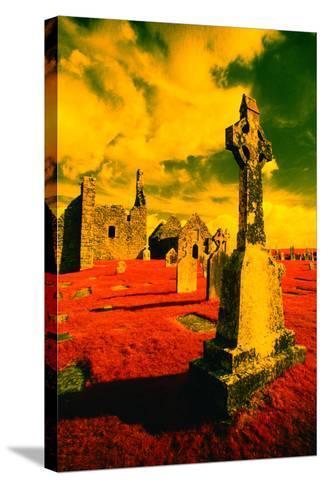 Stone Crosses and Ruins in a Bizarre Landscape-Richard Cummins-Stretched Canvas Print