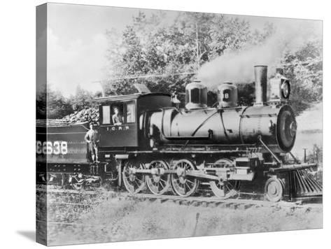 Engineer Casey Jones on Engine No. 638-J.E. France-Stretched Canvas Print