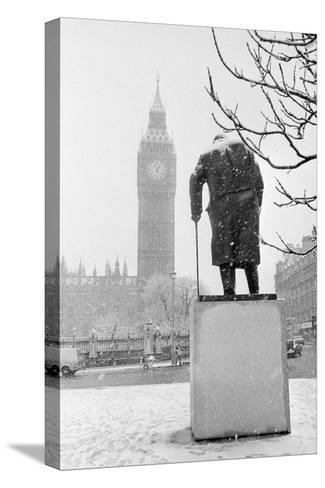 Winston Churchill by Ivor Roberts-Jones--Stretched Canvas Print