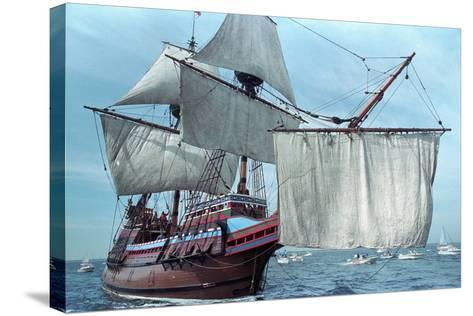 Mayflower II at Sea--Stretched Canvas Print
