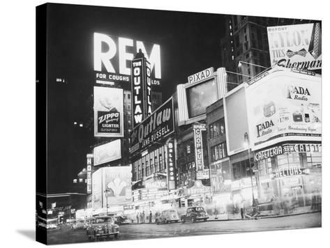 Times Square Nightlife--Stretched Canvas Print