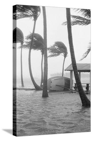 Boat Overturned by Hurricane Winds--Stretched Canvas Print