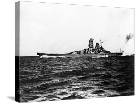 Japanese Battleship Yamato.--Stretched Canvas Print