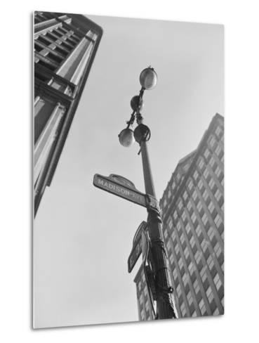 View of Madison Avenue in New York City-Philip Gendreau-Metal Print