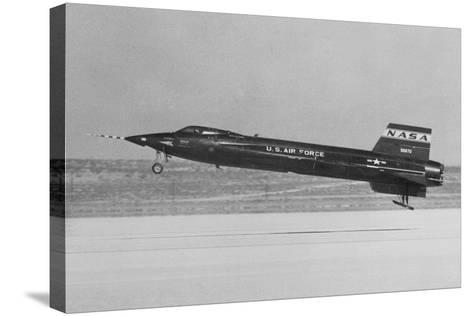 NASA X-15 Landing in Mojave Desert--Stretched Canvas Print