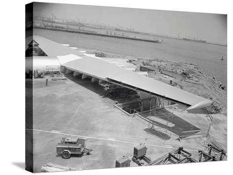 Howard Hughes Spruce Goose Nearing Completion--Stretched Canvas Print