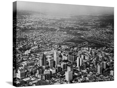 Aerial View of Houston and Surrounding Suburbs--Stretched Canvas Print