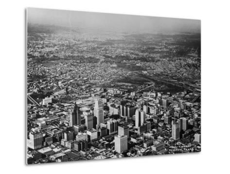 Aerial View of Houston and Surrounding Suburbs--Metal Print