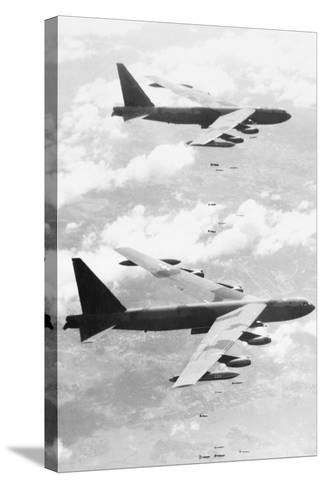 Bomber Planes Releasing Bombs--Stretched Canvas Print